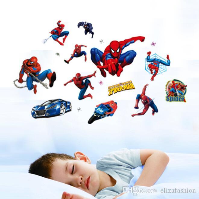 Spiderman Wall Decals For Kids Rooms Stickers Home Decor Personalized Kids  Nursery Wall Sticker Ddecoration For Boys Room Stickers Wallpaper Stickers  Walls ...