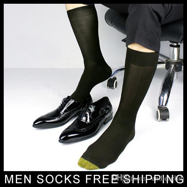 Erkekler Pamuk Örgün takım elbise çorap Altın Ayak Kış Erkek Çorap Siyah Kalın Seksi Iş Eşcinsel Adam çorap