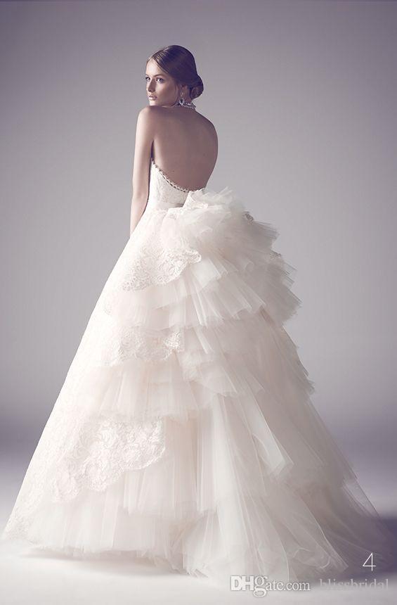 Принцесса Кружева Свадебные Платья Милая Пухлые Тюль Оборками Свадебные Платья На Заказ Длина Пола Открытой Спиной Свадебные Платья