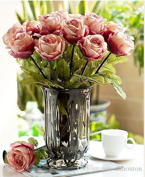 Ipek çiçekler toptan Ipek gül çiçek üst sınıf olmayan kirletici Yapay Çiçek Simülasyon Düğün veya Ev Dekoratif Çiçek ücretsiz kargo