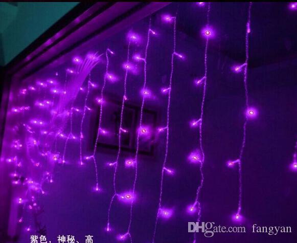 9 Farbe 3.5m Droop 0.3-0.5m Echt 96LED Vorhang Eiszapfen-Schnur-Licht 110V-220V neues Jahr Weihnachten LED-Leuchten Energieeinsparung Wasserdicht
