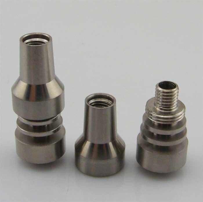 En stock ! Clou titane 10mm 2 IN 1 clou titane sans cadre, avec joint mâle et femelle pour pipe bong en verre