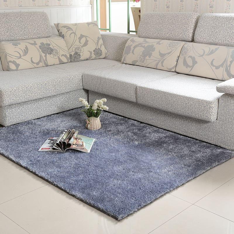 South Korea Solid Silk Carpet Xingyu Tea Table Mat Bedroom