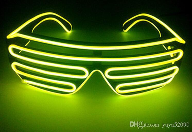 designer Simple Cosplay sunGlasses EL Wire Light LED Glasses Bright Light Party Glasses Club Bar Performance Glow Party DJ Dance Eyeglasses