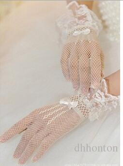 Dedo curto dedo preto laço noiva bridal glloves noiva acessórios de casamento lace luvas acessórios nupciais frete grátis HT49