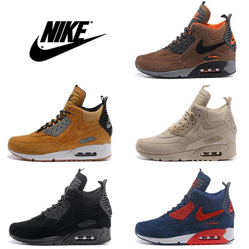 Acheter Nike Air Max 90 Hiver Basketboot High Cut Hommes Chaussures