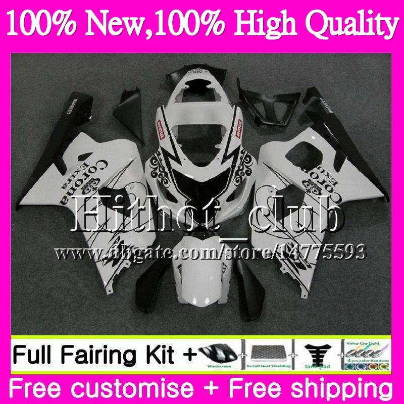 Blk Cuerpo CORONA Para SUZUKI GSXR 750 GSX R600 K4 GSXR 600 04 05 24HT19 GSX-R750 GSX-R600 GSXR750 04 05 GSXR600 2004 2005 Motorcycle