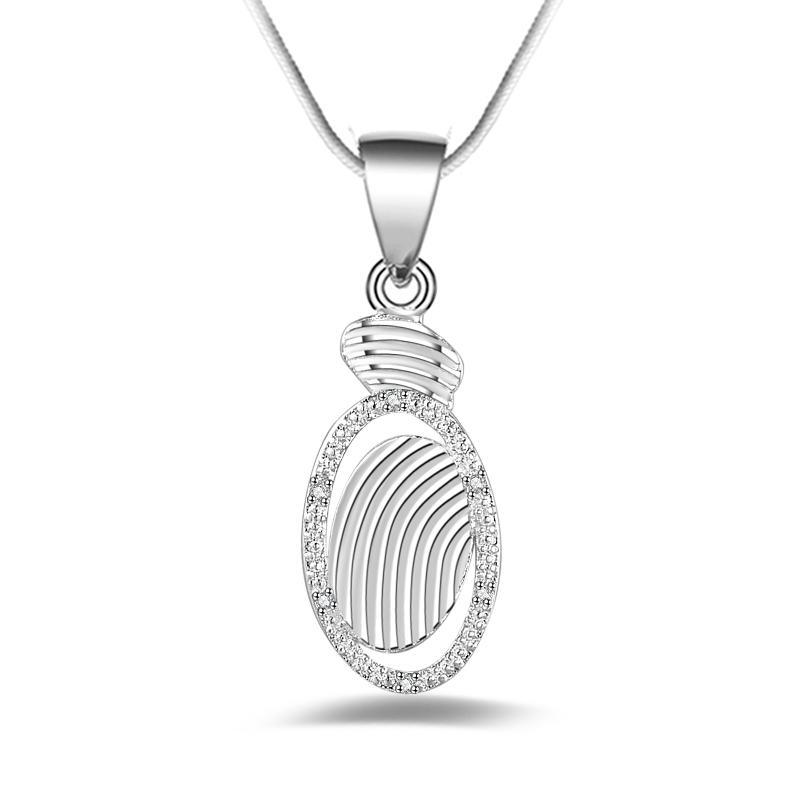 Schmucksachen 925 silberne Halskette der freien Verschiffenart und weisequalitäts 925 silberne Kristallhalskette Valentinstagfeiertagsgeschenke heißes 1639