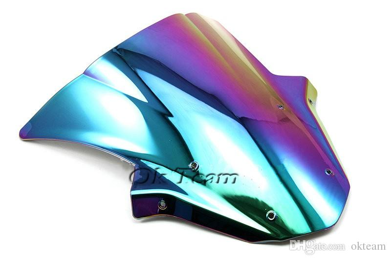 Bubble Windschutzscheibe Windschutz für 2011-2013 Kawasaki Ninja ZX10R 11 12 13 Iridium / Silbrig