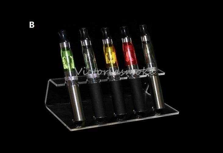 아크릴 전자 cig 디스플레이 케이스 전자 담배 스탠드 선반 홀더 선반 전자 전자 담배 자아 배터리 증발기 ecigs ecigs 모드 드립 팁