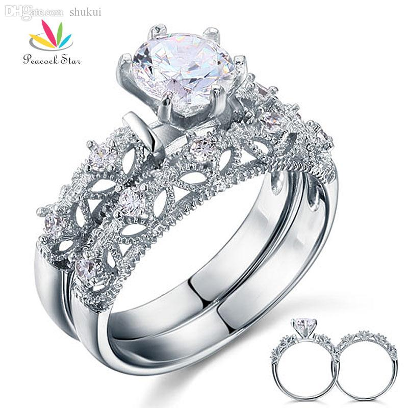 ring product bouquet rings wedding white anniversary silver real charm centres gold diamond