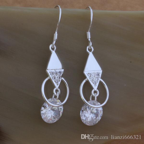 Di modo monili Manufacturer una losanga molto con orecchini di diamanti gioielli in argento sterling 925 orecchini prezzo di fabbrica di moda di lustro