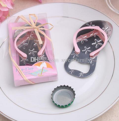 Wine opener wedding gifts pop the top bottle openers sea star flip flop bottle opener favors flip flop bottle cap openers