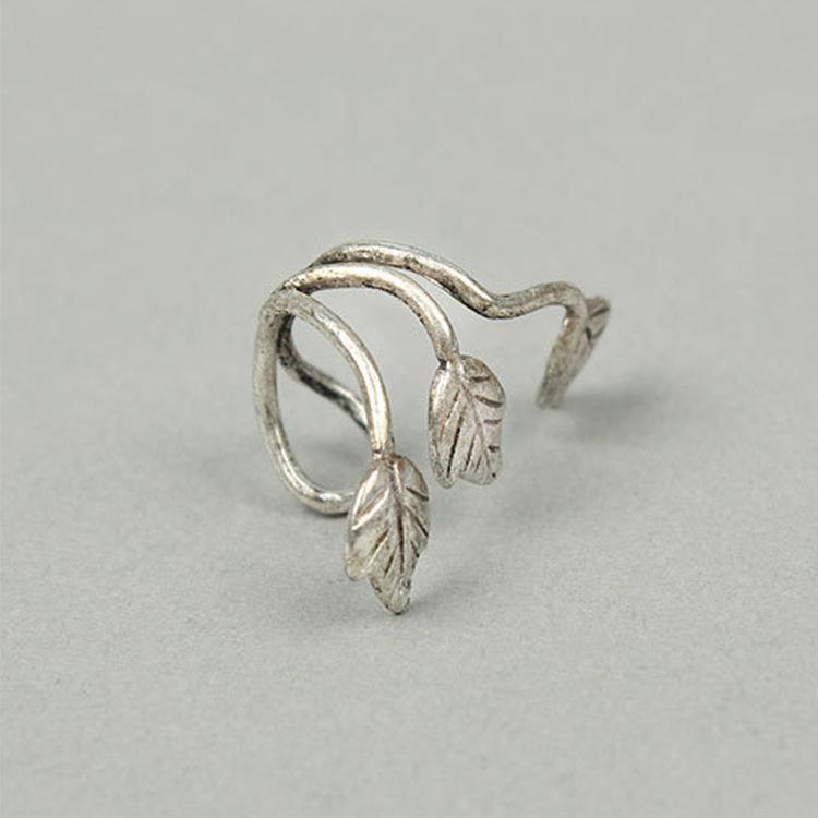 أزياء الأذن الصفعة خمر سبيكة الأذن مربط ورقة تصميم القرط الأذن التفاف كليب أقراط الأذن كليب البرونزية الفضة كذبة eardrop مجوهرات المجوهرات