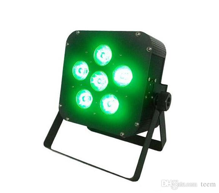 DHL 6x8w LED Par Light Wireless 4in1 Battery led flat Wireless & DMX LED Stage Battery Powered led flat par light Club Light