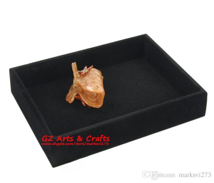 Qualität Samt Schmuckschatulle Ring Ohrring Armband Armreif Schmuckständer Zeigen Fach Holz Schmuck Organizer Leere Trays