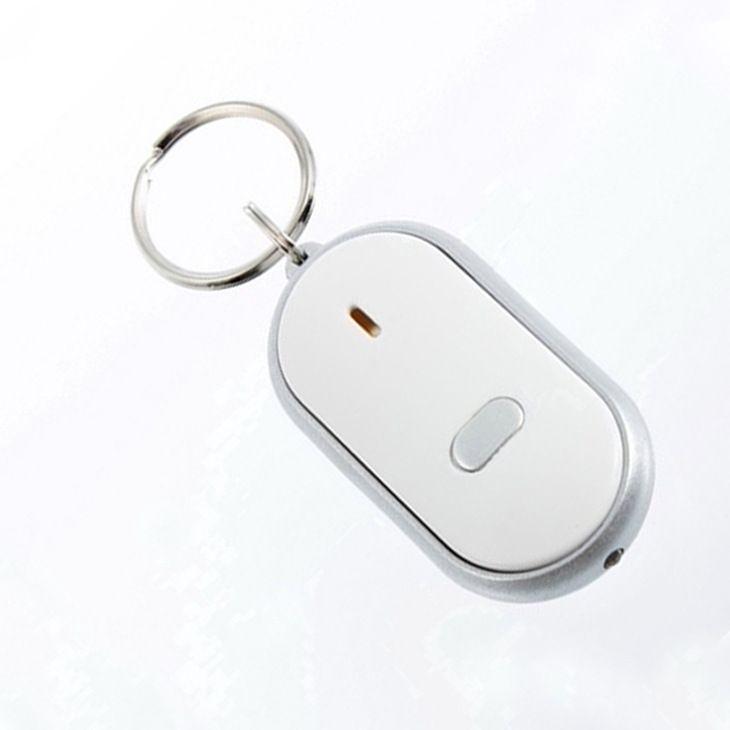 LED Sound Control Lost Key Torch Finder Brelok Brelok Key Finder Whistle Urządzenia będą pierścieniowe Flash LED Brelok Torba Wieszak Anti-Lost Alarm