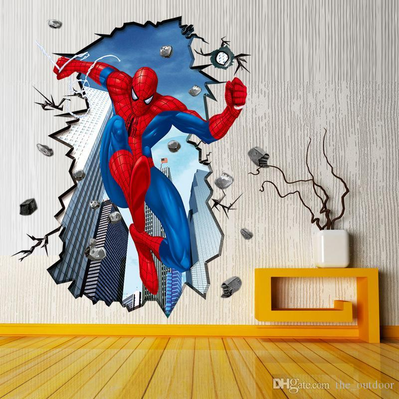 The New Wall Stickers Home Decor Superman Spiderman D Wall - Custom vinyl wall decals uk   how to remove