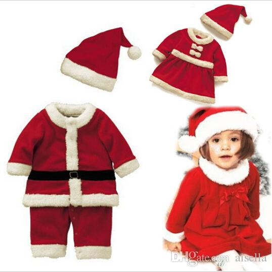 2019 Baby Boys Girls Christmas Costumes For Children Santa