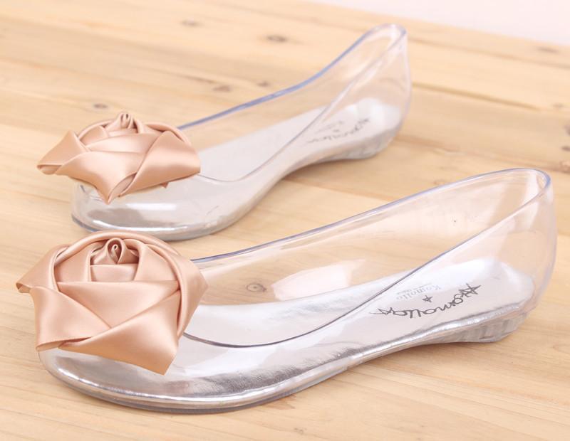 3d7c3e1f851 Melissa Crystal Jelly Shoes Rose Sandals Women s Flat Heel ...