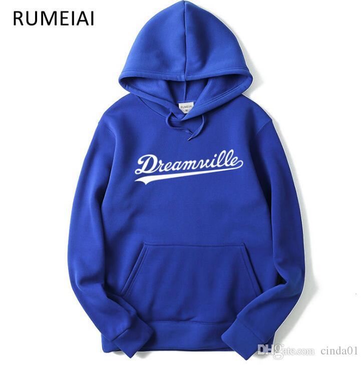 남성 Dreamville J. COLE 스웨터 가을 봄 후드 티 후드 힙합 캐주얼 풀오버 탑 의류