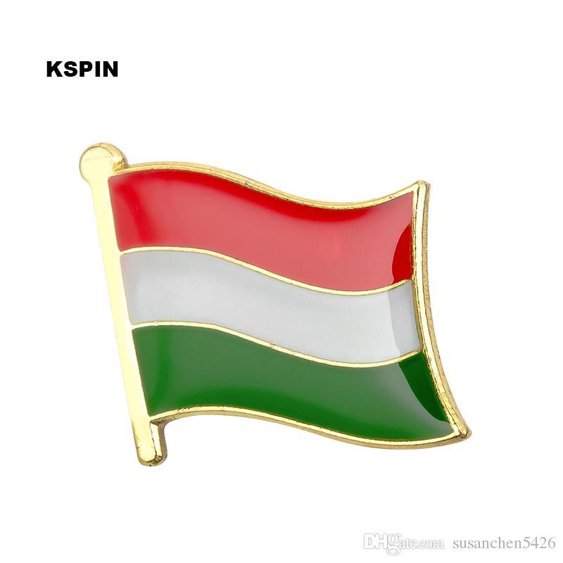 Spedizione gratuita l'Ungheria Bandiera Metallo Badge Badge Pin KS-0194