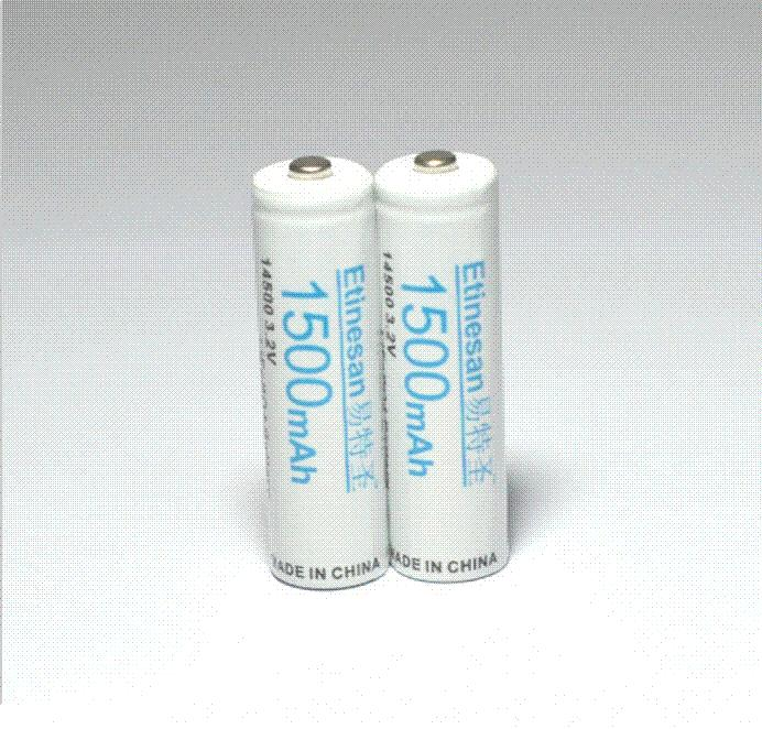 <b>8pcs</b> / <b>lot Etinesan</b> 3.2v 1500mAh 14500 <b>AA</b> LiFePo4 литиевая ...