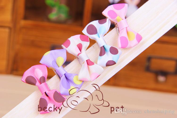 Pet Dog Hair Clips Hair Bow Puppy Hairpin Accessories Decoration hot sale mixed colors nice gift for pet