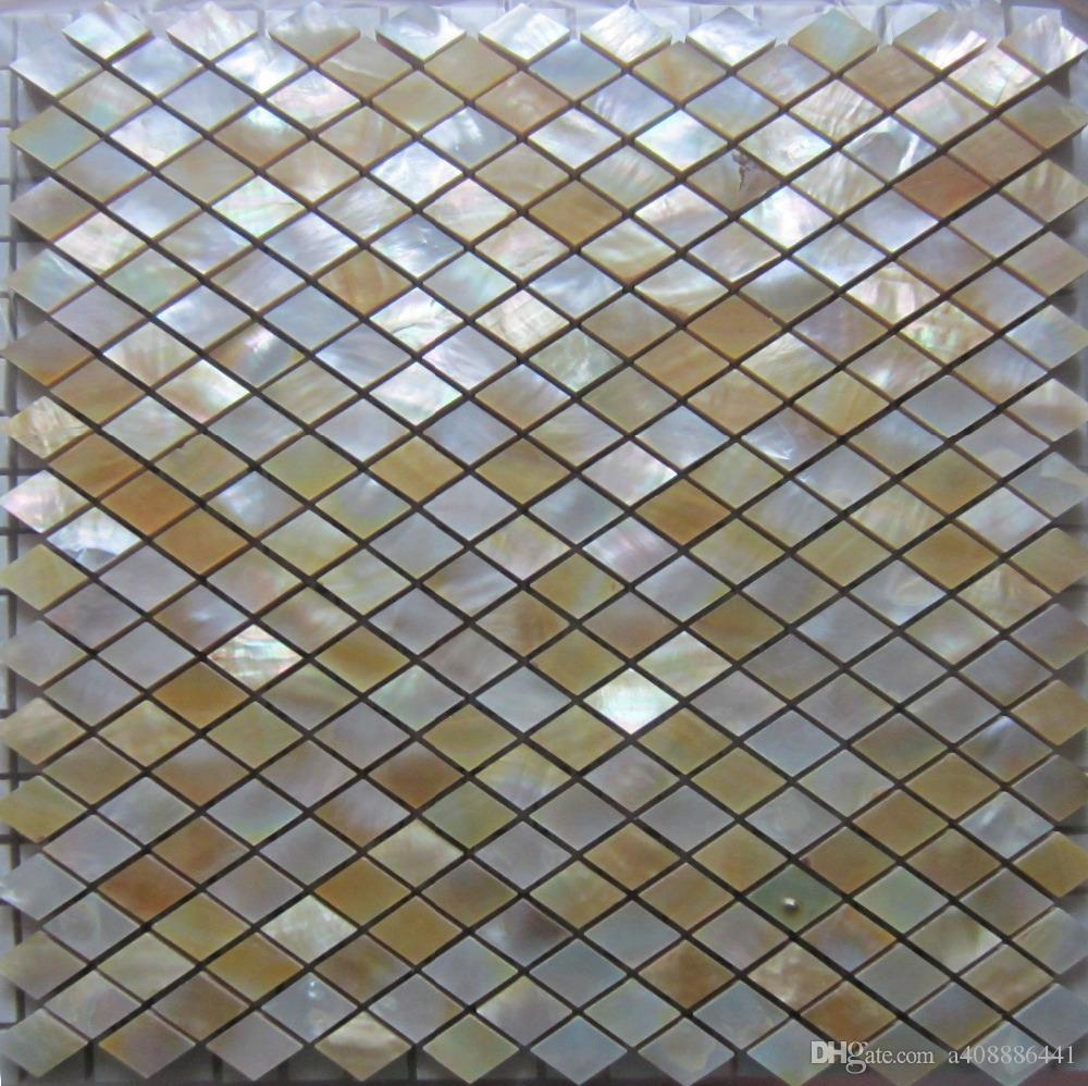 11PCS New Style Rhombus white shell mosaic tile mother of pearl background tile