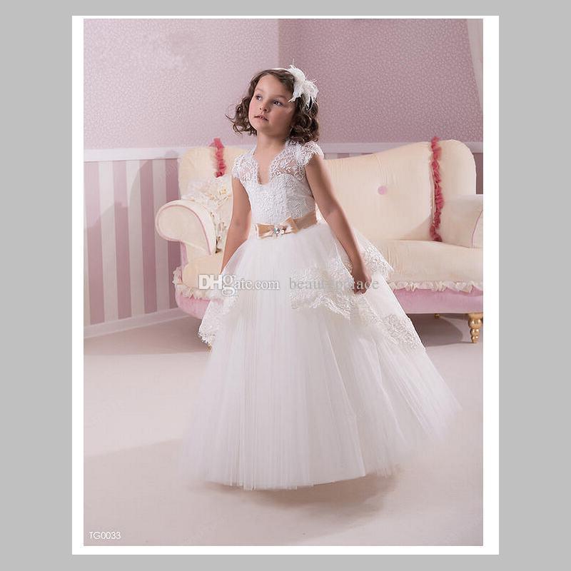 Летние цветочные платья для девочек для свадьбы старинные бальное платье кружева детские дети девочка день рождения Рождество Принцесса платья с коротким рукавом