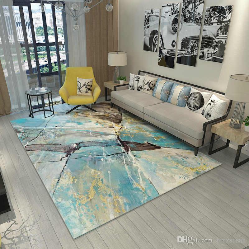 Neue Design Europa Parlour Teppiche Schlafzimmer Teppiche Waschbare Matte  Abstrakte Rechteck Teppich Wohnzimmer Kunst Dekoration Teppiche