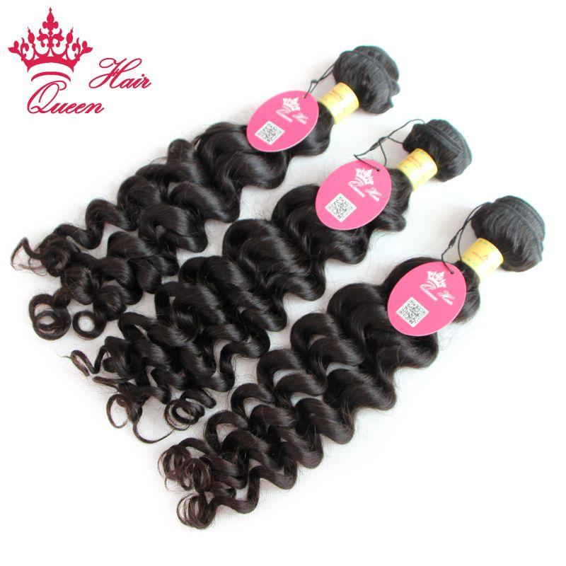 Produtos de cabelo rainha 100% não processado extensões de cabelo virgem peruana mais onda cabelo humano tecer lote rápido transporte rápido