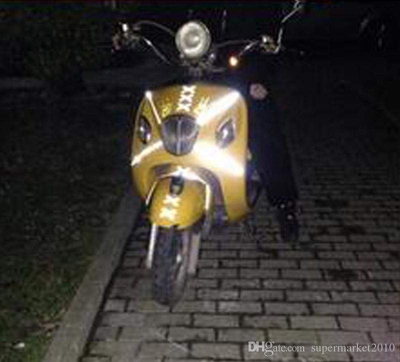 3 Metre X 5 CM Araba Yansıtıcı Sticker Emniyet Uyarı Kapak Aksesuarları Barizlik Rulo Bant Filmi Motosiklet Bisiklet sticker