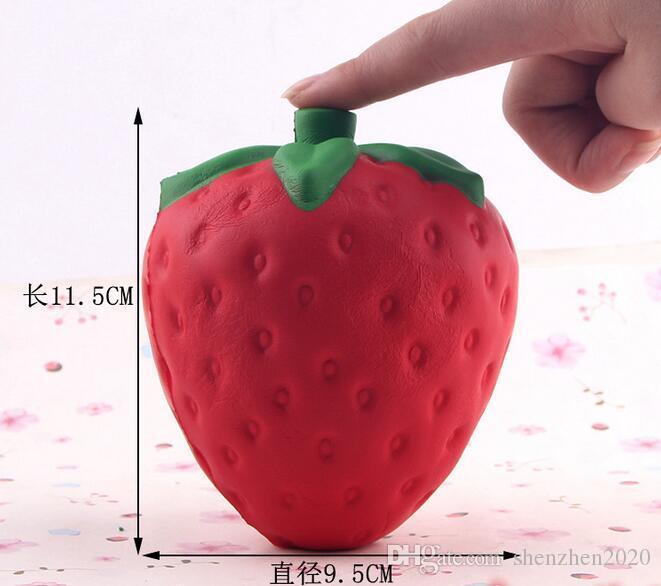 Болотистый 11.5 см клубника болотистый Джамбо моделирование фрукты Каваи искусственный медленный рост болотистые Queeze игрушки сумка телефон Шарм большой размер