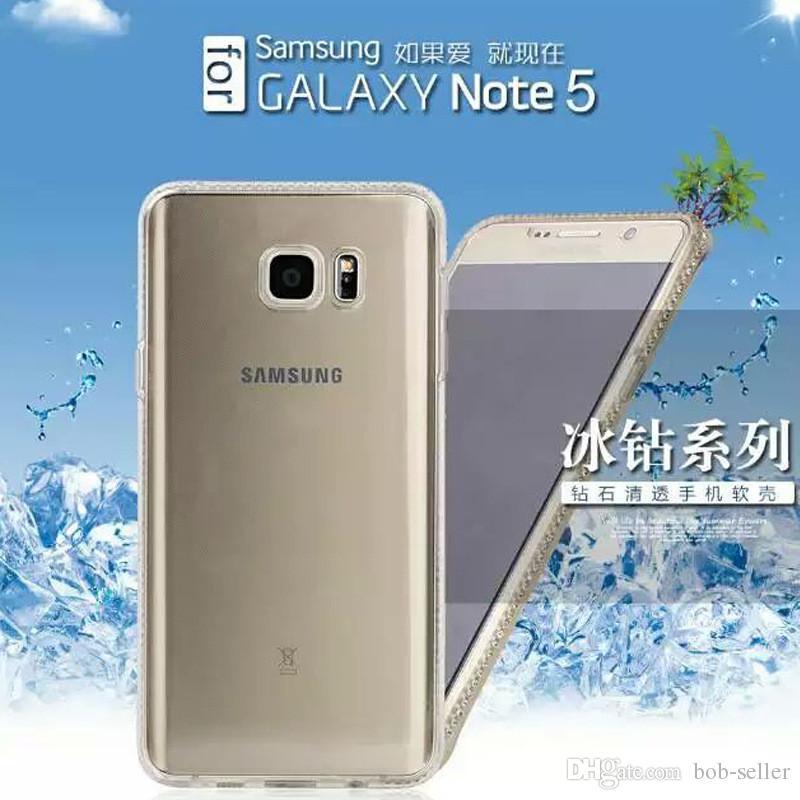 Samsung J1 için yeni varış / J5 / J7 / A5 / A7 İnce tpu elmas telefon kabuk sınır S6edge artı buz sondaj S6 Cep telefonu setleri koruyucu kollu