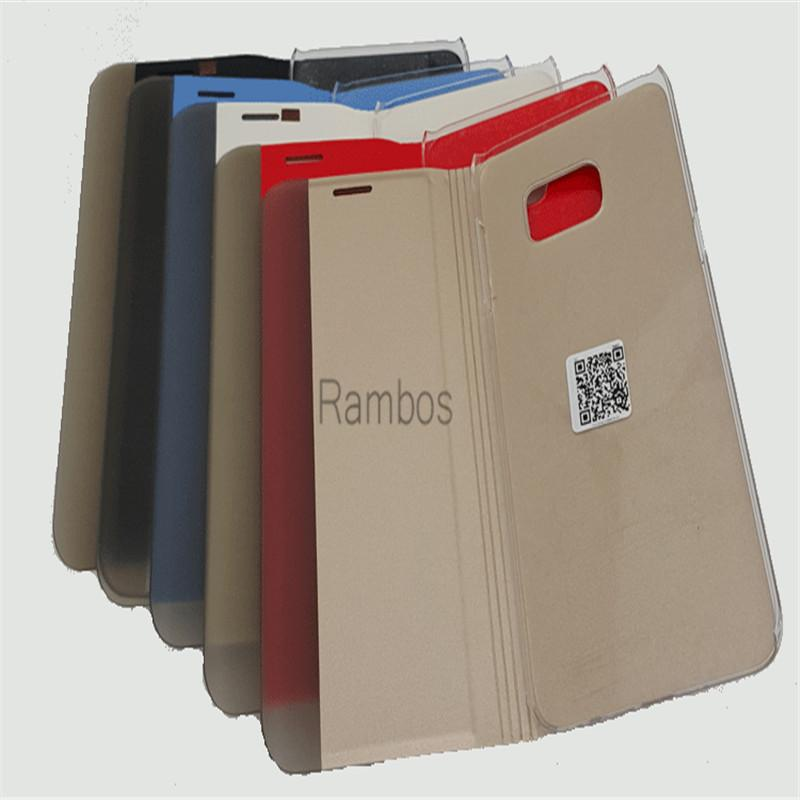 Pour Huawei P8 Lite, Étui Smart Flip Cover en cuir avec fenêtre Smart View et affichage de l'identifiant de l'appelant pour Huawei P7 / P8 / Mate 7 / Honor 6 Plus