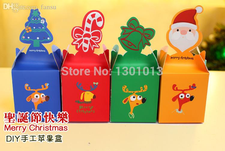 2017 Wholesale Christmas Gift/Sweet Box Diy Paper Cracker Box Bag ...