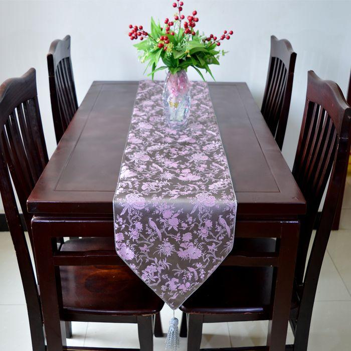 High end modern luxury wedding decoration table runners damask silk high end modern luxury wedding decoration table runners damask silk flower bird tea table cloth bed runner l200 33cm multicolor gold table runner gold junglespirit Choice Image