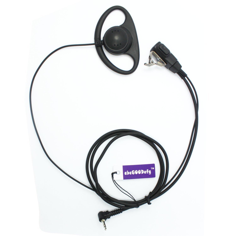 motorola earpiece. d shape earpiece headset ptt for motorola talkabout cobra two way radio walkie talkie 1pin with microphone mit