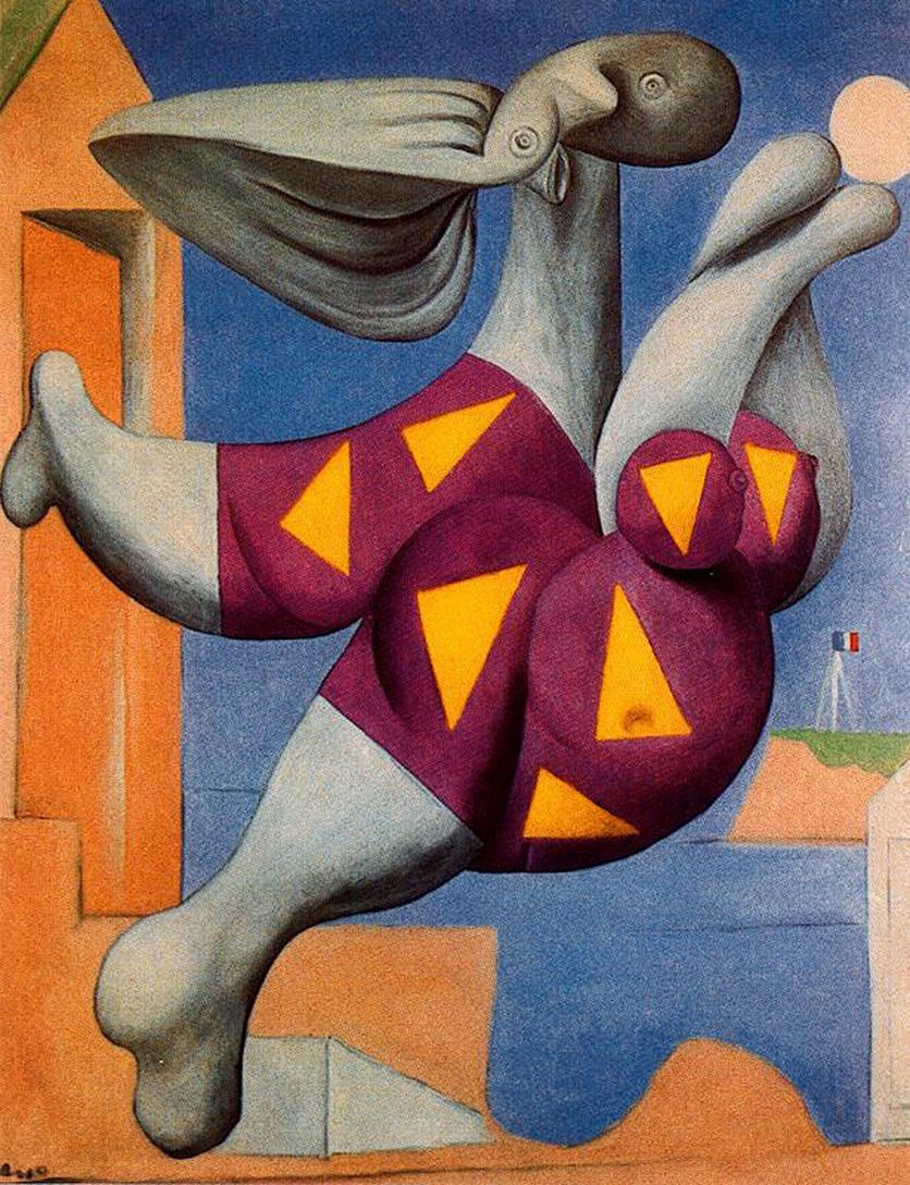 Famous artworkpablo picasso oil painting reproductionbather with beach ballhand paintedhigh quality pablo picasso paintings online with 217 49 piece on