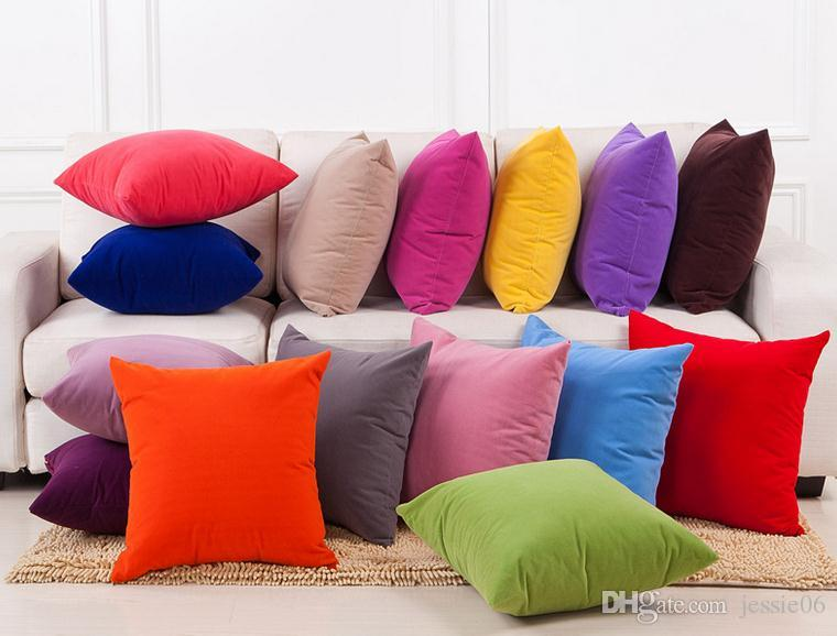 New Solid Colored Pillow Cushion Covers Case Fashion Mediterranean Style  Pillow Covers Case Home Textiles Décor Gift Drop Shipping Outdoor Throw  Pillows On ...