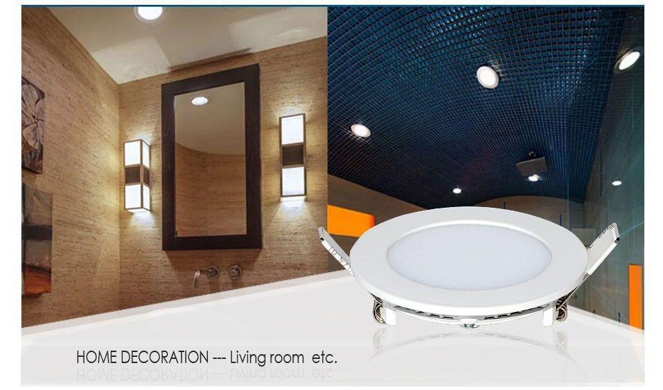10単位LEDパネルライトDIMMABLE 9W / 12W / 15W / 18W / 21Wクリー眼LEDの埋め込みダウンライトランプ暖かい/クーラーホワイト超薄丸/正方形110-240V