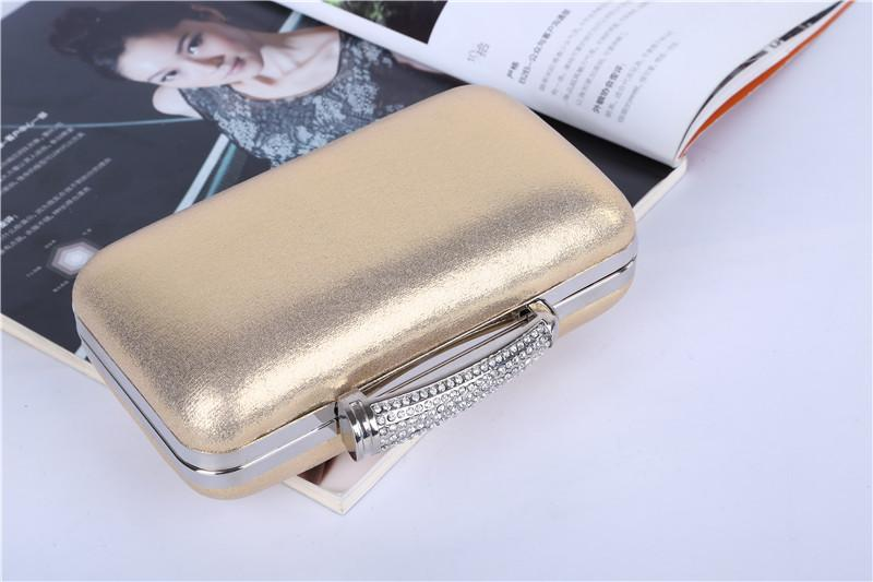 Wholesale/Factory brand new handmade fantastic PU evening bag/clutch purse with satin for wedding/banquet/party/pormMore colors