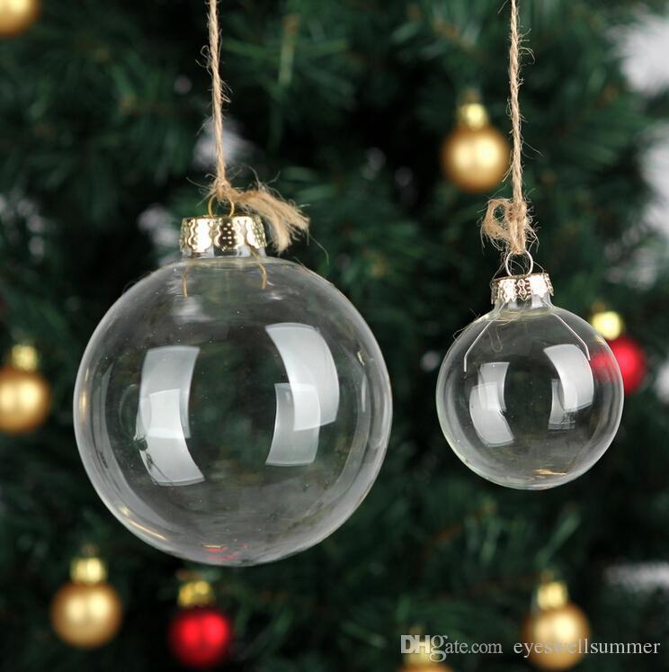 الزفاف الحلي الحلي عيد الميلاد عيد الميلاد زجاج كرات الديكور 80mm وكرات عيد الميلاد واضح زجاج كرات الزفاف 3