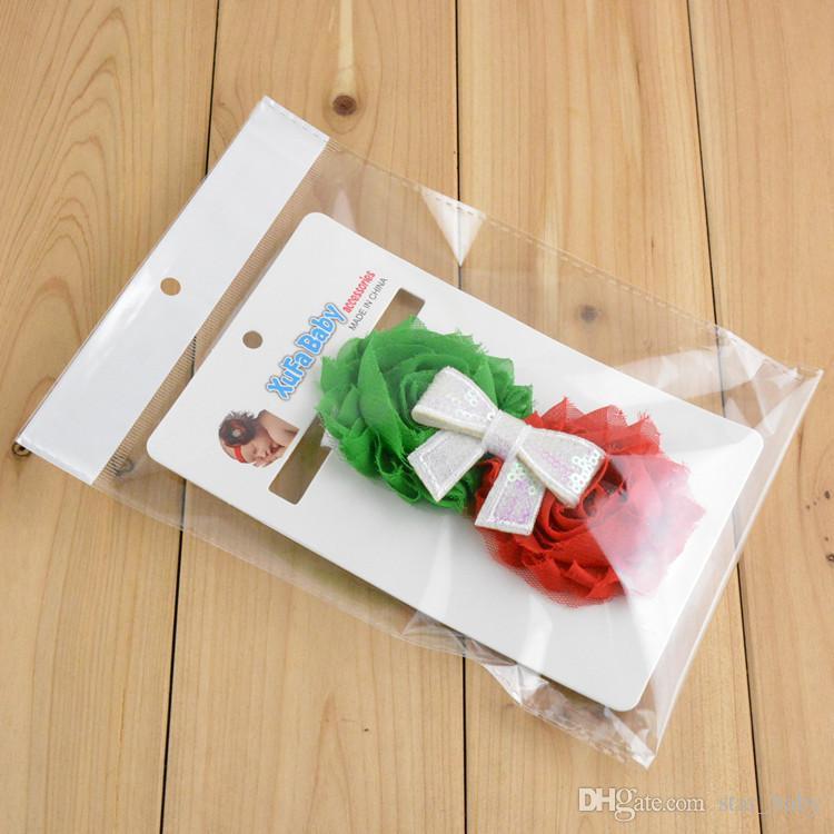 9 Art Prinzessin Baby-Kind-Weihnachtsgeschenk-Haar-Band-Handgemachte Sequin Bowknot Perlenstickerei Kinder Haarschmuck Stirnbänder Band K4896