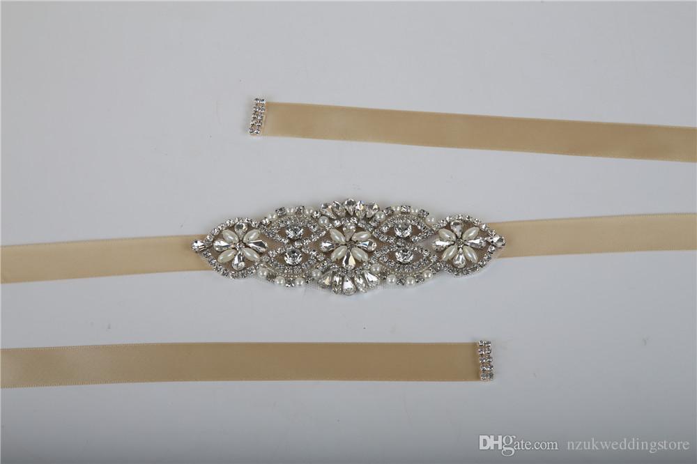 New Arrive Elegant Rhinestone Vintage Crystal Wedding Party Bride Bridesmaid Belt Dress Flower Sash Accessories