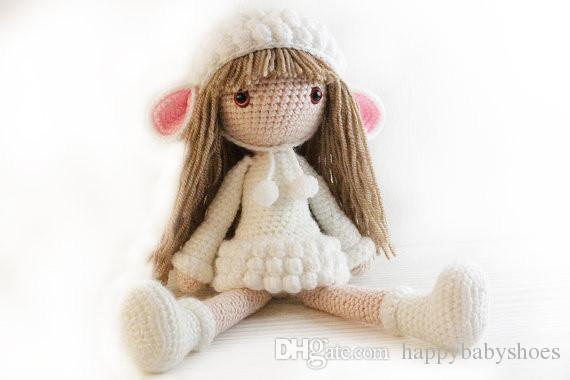 Großhandel Häkeln Sie Amigurumi Puppe Mädchen Gefüllte Puppe