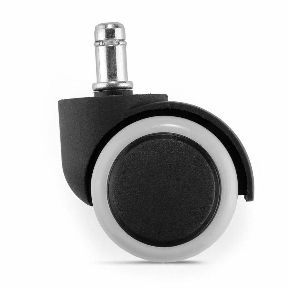 360 Degree Durable Rubber Furniture Rolling Plug In Swivel Wheels Casters  Home Office Computer Crib Chair Replacement Accessories