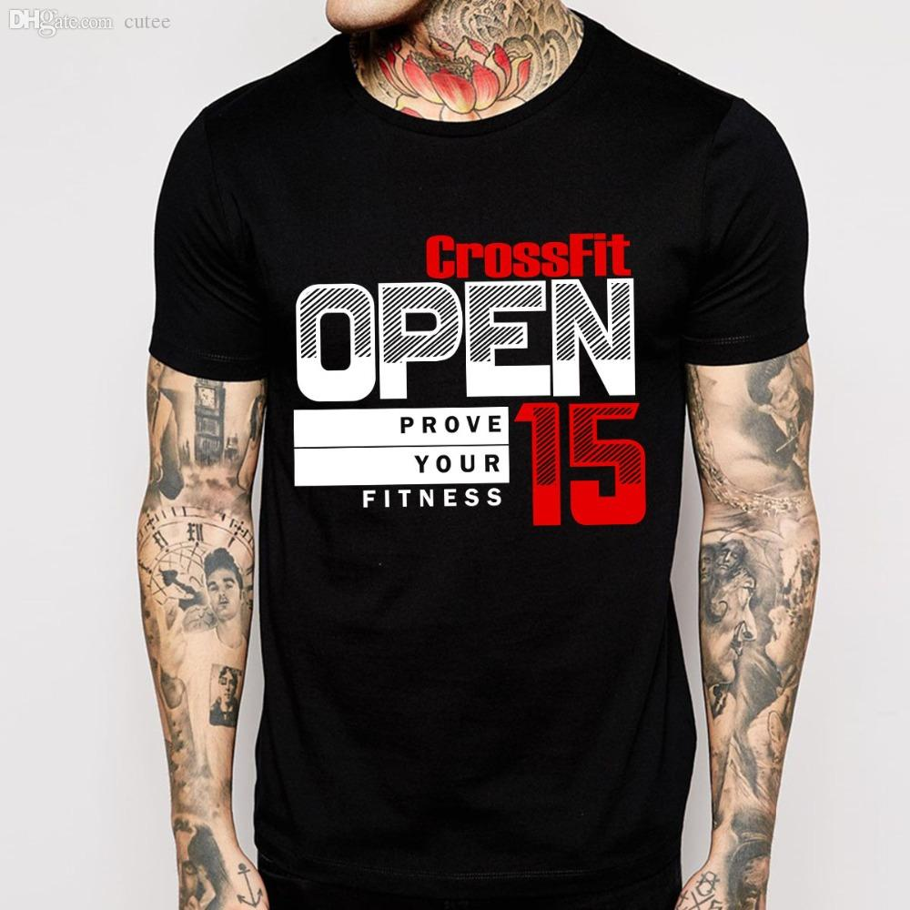 Wholesale Open Crossfit T Shirts Men Cotton O Neck Man Tees ...