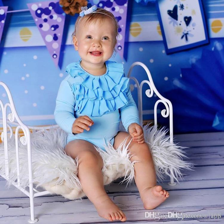 bf3f63ef05ed INS New Arrival Baby Kid Climbing Romper Long Sleeve Cute Lace ...